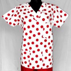 Košeľa červené bodky