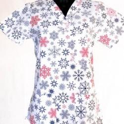 Vianočná košeľa vločky
