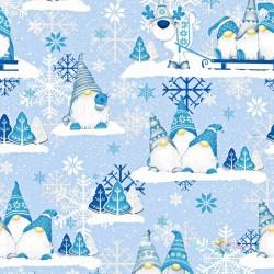 Modrí vianoční škriatkovia