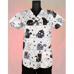 Košeľa bláznivé mačky